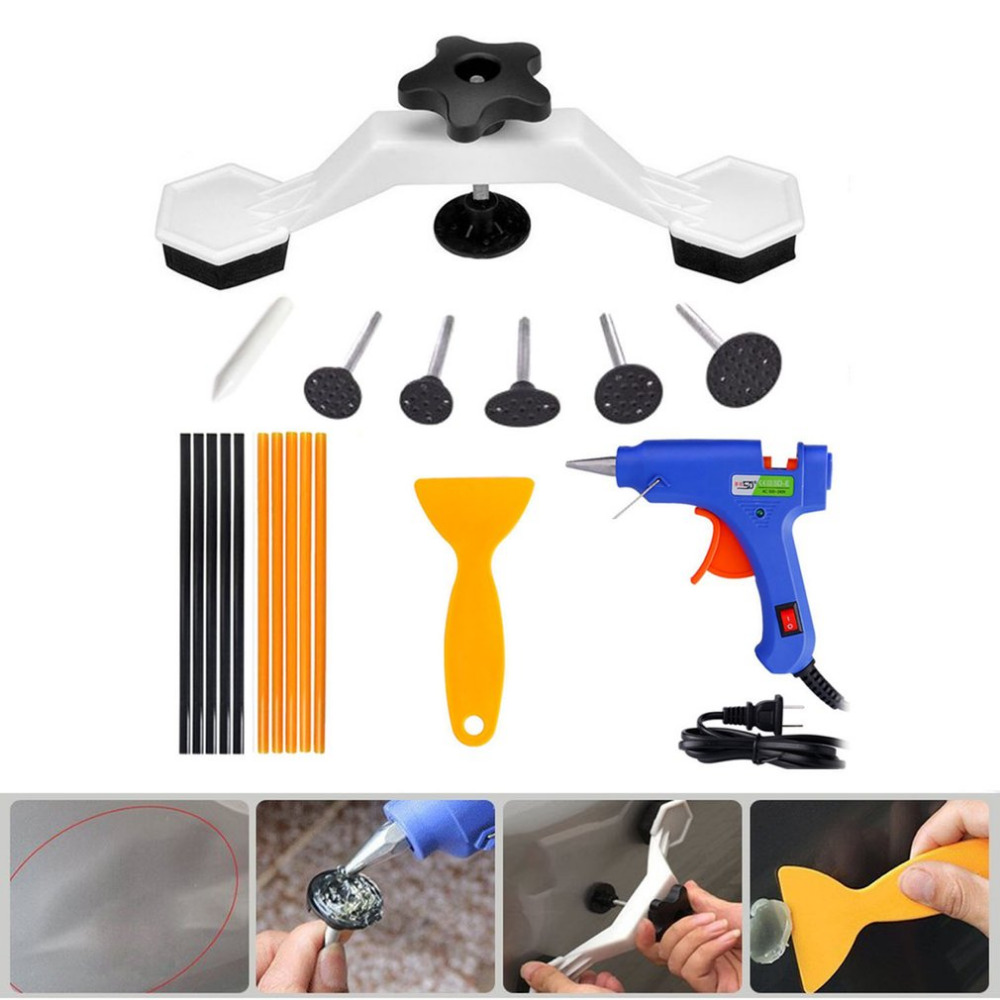 Dent Remover Bridge Dent Repair Tools Kit Paintless Removal Dent Repair Puller Pulling Auto Body Motorcycle Washing Machine