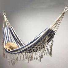 Double Boho Tassel Nest Hammock Swing Chair Outdoor/Indoor Picnic Garden Macrame Brazilian Hammock Hanging Net Chair Swings