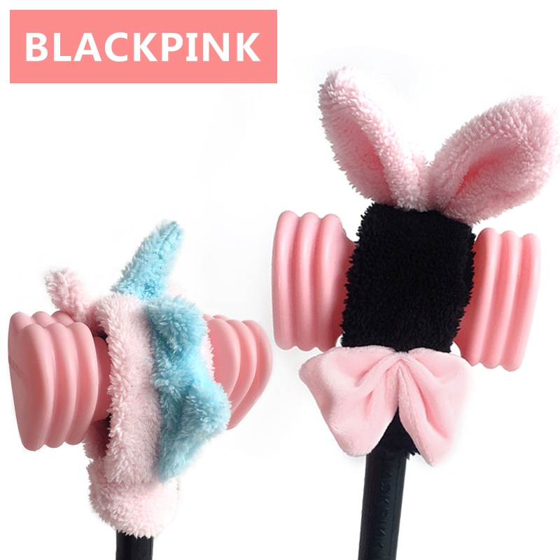 Korea Kawaii Cute Lightstick Headband Jennie Lisa Light Stick Plush Protector Head Cover Gags Practical Ornament Toy Fans Gift