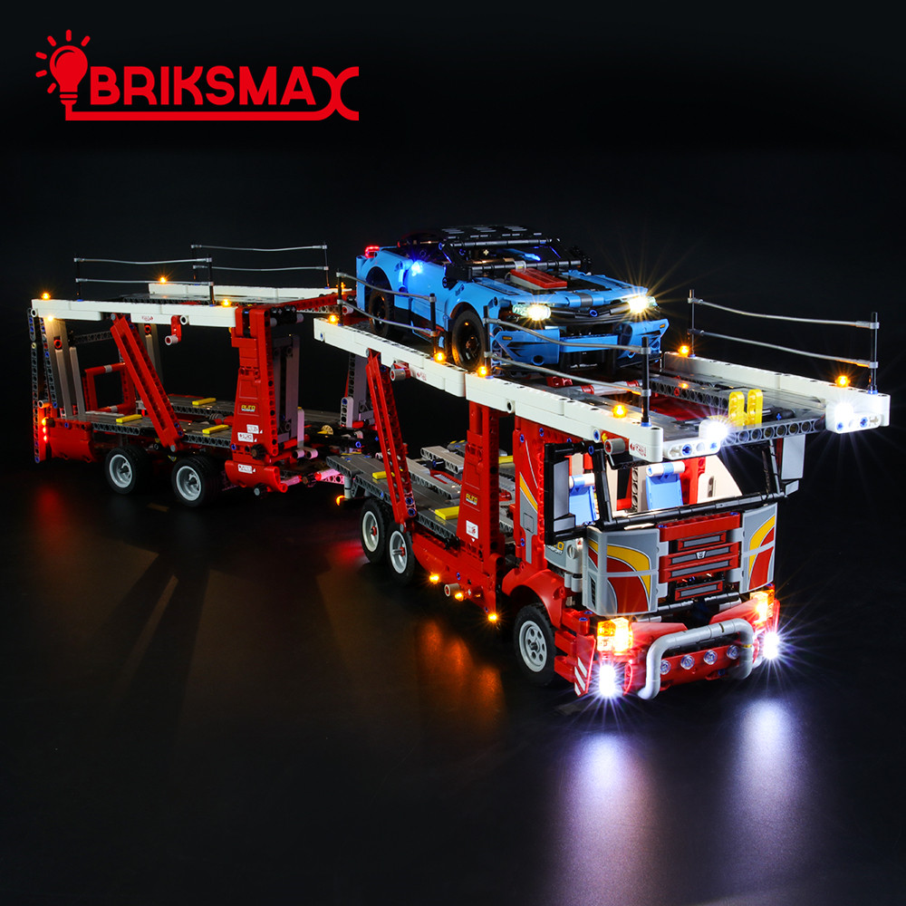 BriksMax Led Light Up Kit For Technic Series Car Transporter Building Blocks Compatible With 42098 (NOT Include Model)