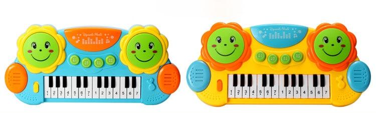 1pc bébé clavier Instrument de musique jouet Piano avec lumière et son enfants tambour apprentissage précoce cadeau éducatif jouets enfants