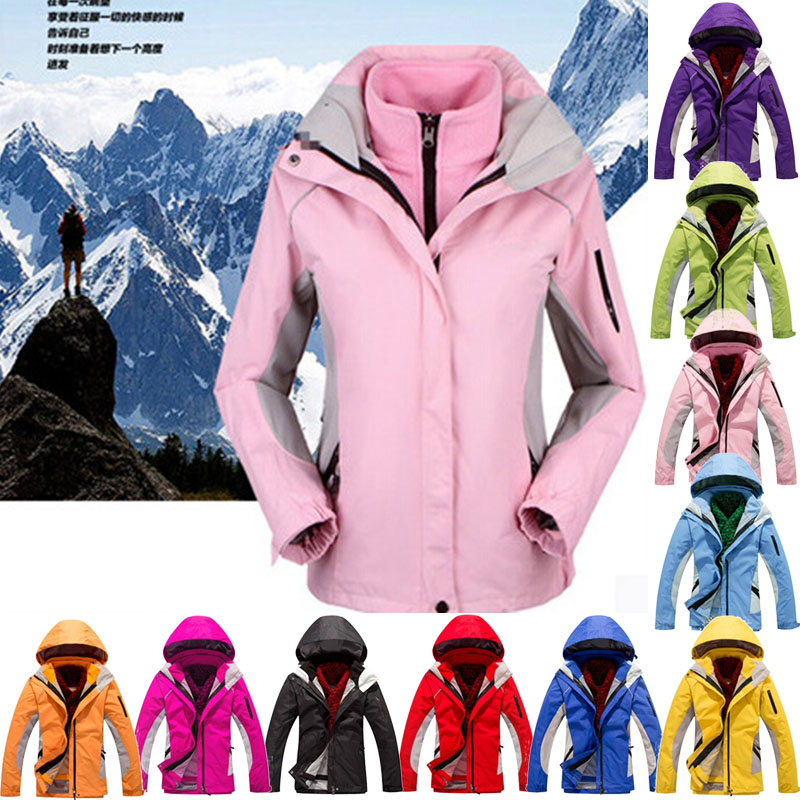 Outdoor Sports Warm Wind Winter Woman Ski Mountaineering Camping Hiking Piece Suit Jacket Large Size S-XXXL Skiing Jackets