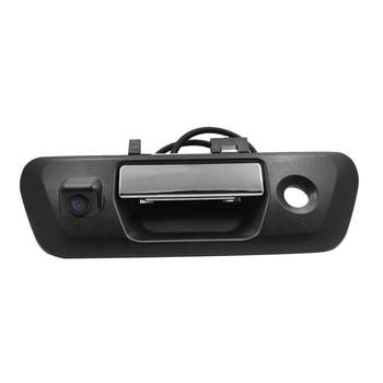 Car Rearview Backup Camera Tailgate Handle Camera Vehicle Backup License Plate Cameras Night Vision for NISSAN NAVARA NP300 2015