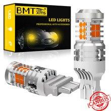 BMTxms 2 шт. Canbus T25 3157 3156 P27/7 Вт светодиодный сигнал поворота автомобиля янтарный свет без ошибок 21 Вт постоянный ток автомобильное освещение