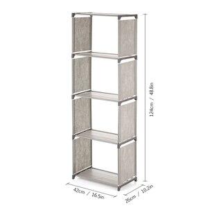 Image 3 - 5/4 layer Bookcase Simple Assembled Bookshelf Corner Closet Sundries Book Storage Organizer Shelf for Kids Book Rack Furniture