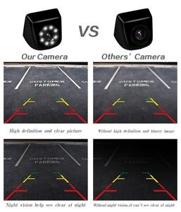 Image 4 - Misayaee HD 720p Golden Camera Universal Car Rear View Reversing Backup camera 8LED Night Vision Auto Parking Camera Waterproof