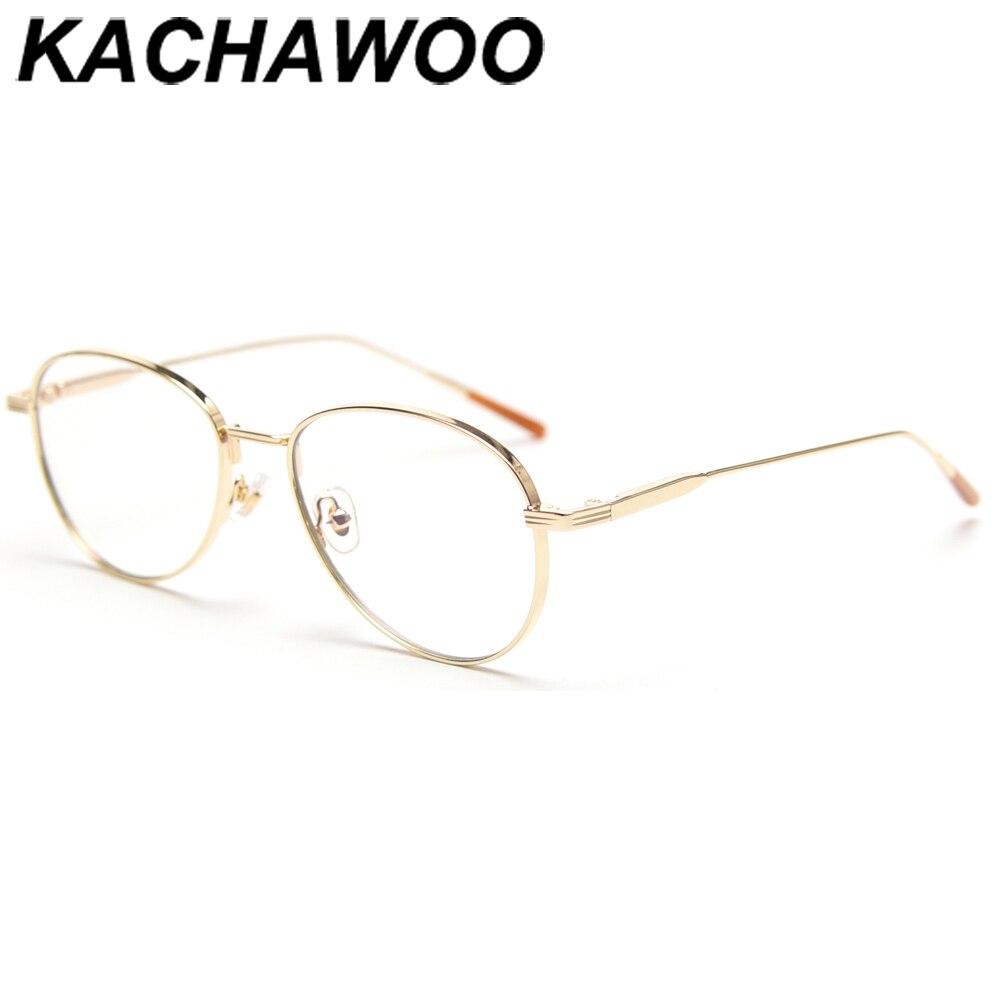 Kachawoo-gafas de protección contra luz azul para mujer, montura de gafas ópticas doradas y plateadas, marco de metal, regalo de Año Nuevo