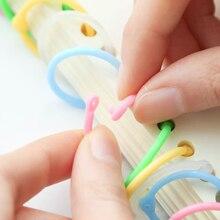 Plastic Circle Ring-Clips Book-Binder Notebook Leaf School-Supplies DIY Office Hoops