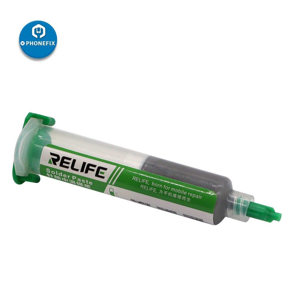 Relife RL-403 BGA Solder Paste Flux Jarum Suntik 10CC 183 Derajat Sn63/Pb37 20-38um Tanpa Bersih Memimpin Solder Pasta