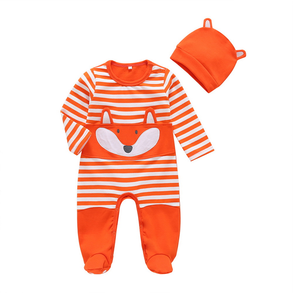 New born carters fox baby Boy clothes newborn footed footies infant girl sleeper footie pajamas 12 18 months autumn clothes D20