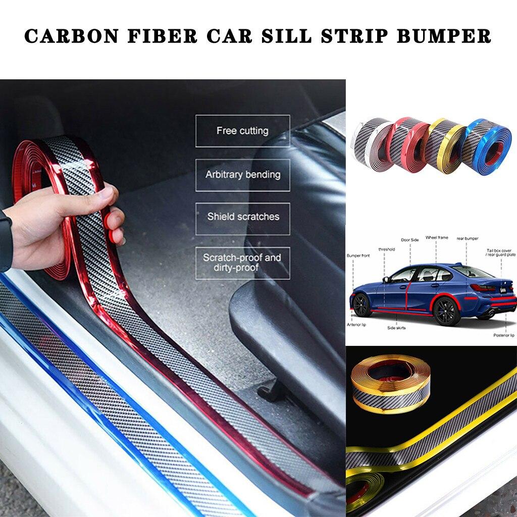 Car Anti-collision Silver Side Skirt Door Sill Protector Edge Guard Strip 5CM*1M