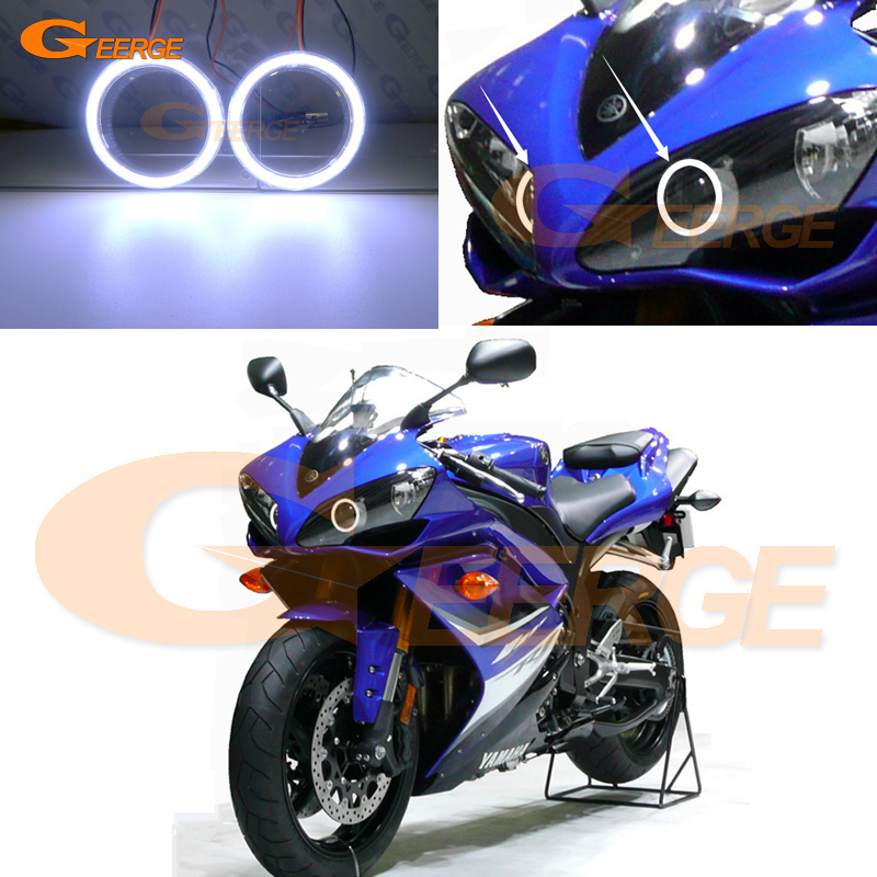 For Yamaha R1 YZF-R1 2004 2005 2006 2007 2008 Excellent Ultra Bright Illumination COB Led Angel Eyes DRL Halo Rings