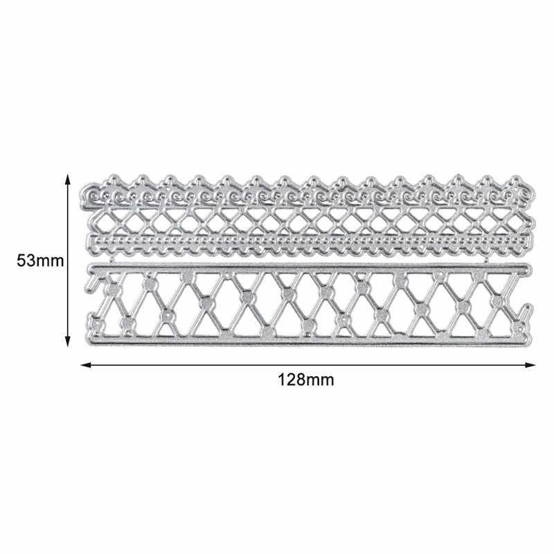 YaMinSanNiO 2 sztuk diament granicy metalu wykrojniki koronki ramki umiera DIY szablony do cięcia papier typu kraft tworzenie kartek Scrapbooking