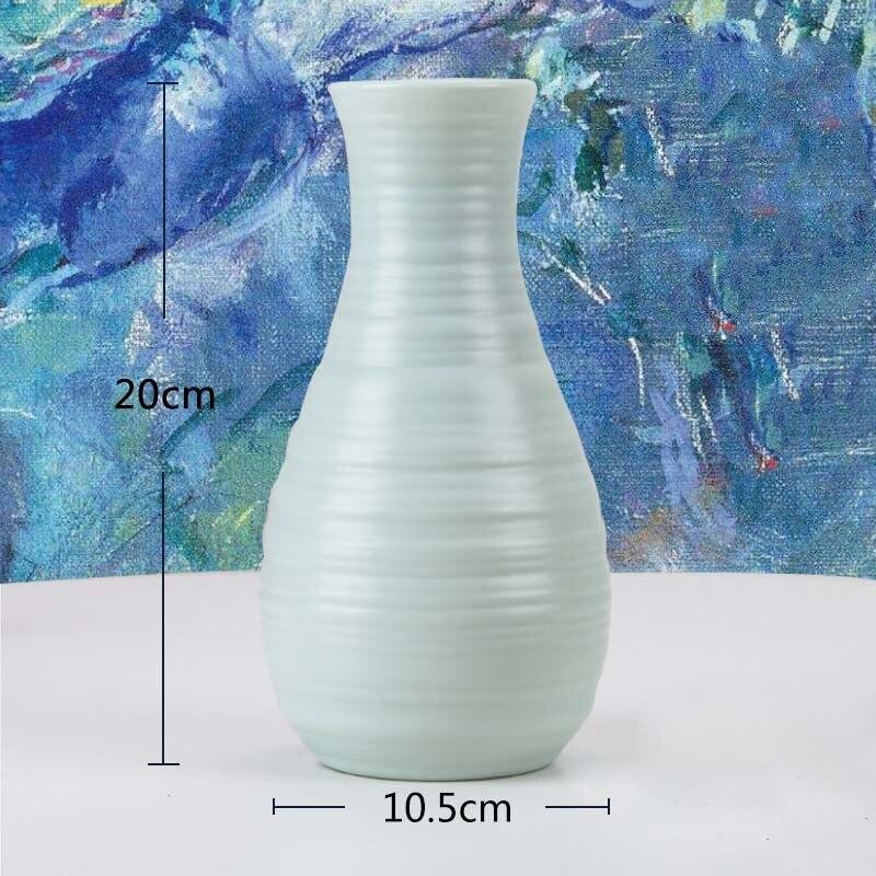 Оригами пластиковая ваза молочно-белая имитация керамического цветочного горшка Цветочная корзина Цветочная ваза для украшения интерьера скандинавские украшения - Цвет: 3500-Green