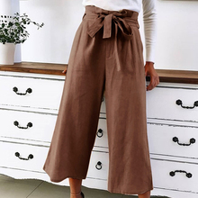 OEAK New 2019 Korean Women Wide Leg Pants Loose High Waist Solid Color Pants Casual Ankle-Length Trouser Femme Plus Size 5XL s 5xl vintage long pant women 2019 celmia female high waist wide leg pants trouser casual loose pantalon plus size solid palazzo