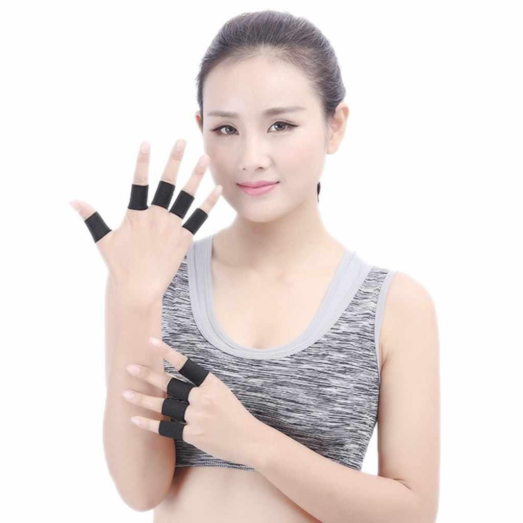 Diz kol koruyucu 10 adet elastik Polyester spor parmak desteği muhafızları boyutu 3.5x3 cm (siyah) kinesio bant parantez #301125