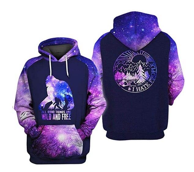 PLstar Cosmos Bear 3D Hoodie Hoodies Men Women New Fashion Autumn Hooded Sweatshirt Long Sleeve Pullover
