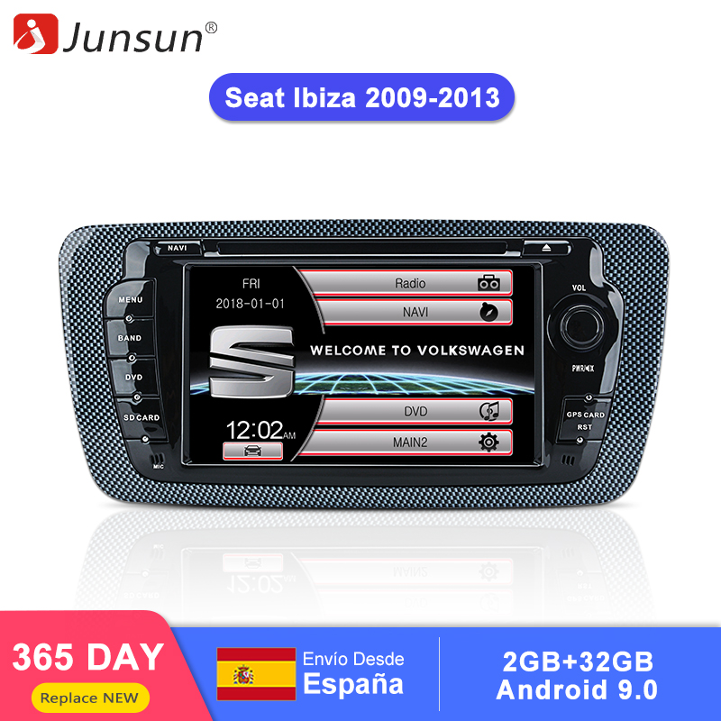 Junsun 2 din Car Radio car dvd player For Seat Ibiza 2009 2010 2011 2012 2013 Android 9.0 GPS navigation 4+64GB Optional-in Car Multimedia Player from Automobiles & Motorcycles
