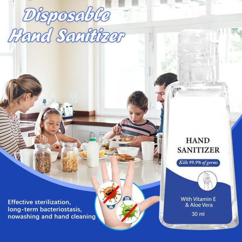 30ml Travel Portable Mini Hand Sanitizer Anti-Bacteria Moisturizing  Disposable No Clean Waterless Clear Fluid No-Wash Clean