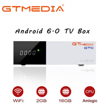 GTmedia GTC Receptor DVB-S2 DVB-C DVB-T2 ISDBT Amlogic S905D Android 6.0 TV BOX 2GB 16GB Satellite 1 Year IPTV Receiver TV Box dvb t2 dvb s2 dvb c free sat v8 golden combo usb wifi receptor satelite digital powervu iptv satellite receiver ccam 1 year