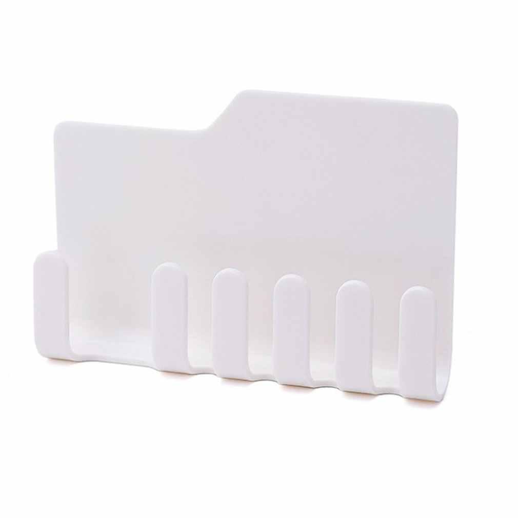 Montado na parede vara escova de dentes cremalheira pasta de dentes pendurado multifuncional quadro guarda-chuva vara parede de carregamento rack de barbear