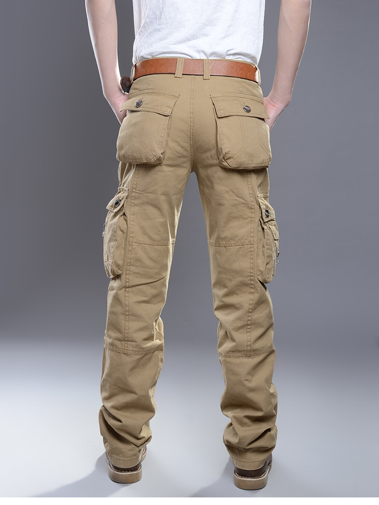 KSTUN New Cargo Pants for Men Baggy Casual Pants Male Overalls Full Length Trousers Loose Straight Cut Pants Zippers Pockets Desinger 14