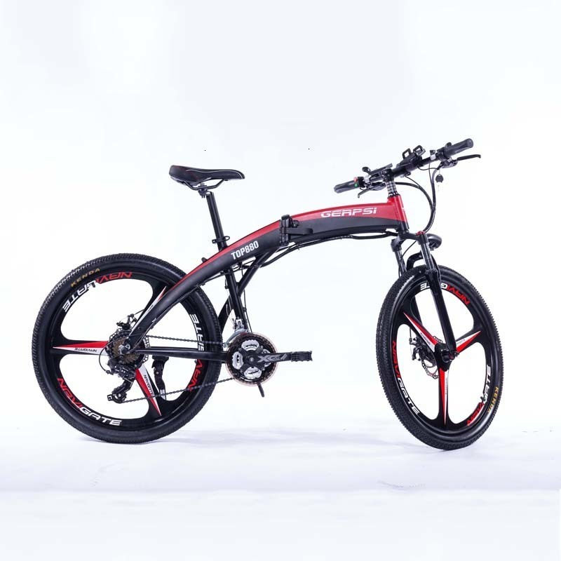 26 Inch Gps-02609ea Electric Mountain Bike 21 Speed Lithium Battery Aluminum Alloy Folding E-bike Bicycle For Adult qicycle 1