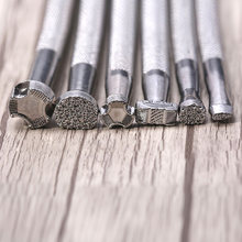 DIY Alloy Leather Printing Tool Working Saddle Making Tools Craft Stamps Set Carving for Leathers