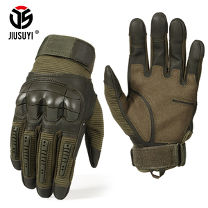 Full Finger Tactical Army Gloves Military Paintball Shooting Airsoft Bicycle Combat PU Leather Touch Screen Rubber Hard Knuckle