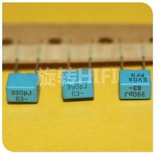 20PCS החדש EVOX PFR5 390PF 63V P5MM MKP 391/63V סרט EVOX RIFA PFR 391 390pF/ 63V 63V390pF 5% 63V391
