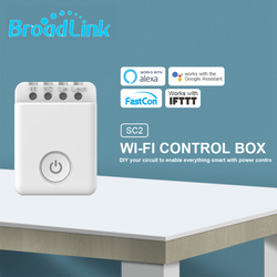 Broadlink SC2 inteligentny włącznik wifi przerywacz wyświetlacz mocy DIY zegar pilot aplikacji sterowanie gniazdo automatyki dla Alexa Google Home w Moduły automatyki domowej od Elektronika użytkowa na