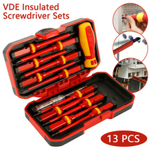 13шт с VDE изолированная отвертка СГ-V напряжение 1000В магнитный Филлипс шлицевая Torx с прочный ручной инструмент