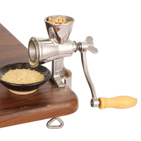 Herb Wheat Manual Handheld Flour Soybeans Mill Rotating Home Kitchen Grain Grinder Stainless Steel Food Coffee Cereal