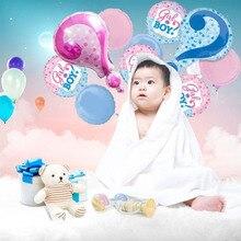 Gender Reveal Party Balloon Set Boy Or Girl Confetti Foil Reunion Arrangement Creative QuestionMark