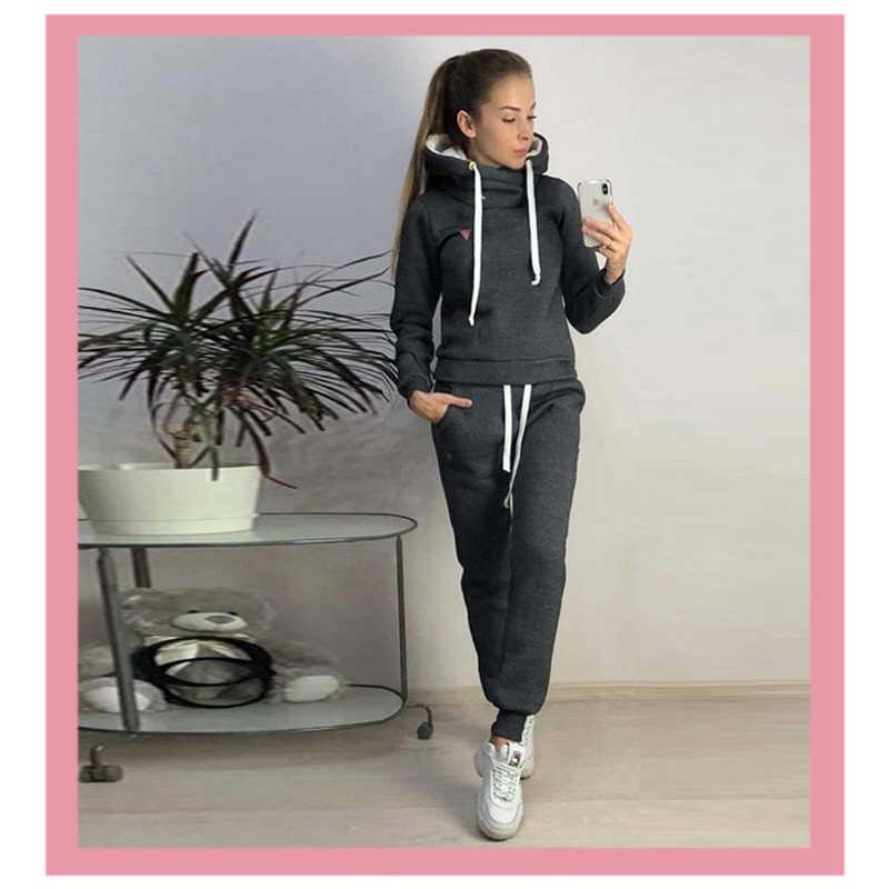 Xxxxl Jumpers Winter Zwart Roze Womens Tops En Blouses Hoodie Sweatshirt Pocket 2 Delige Set Pak Ropa Mujer Trainingspak Voor vrouwen