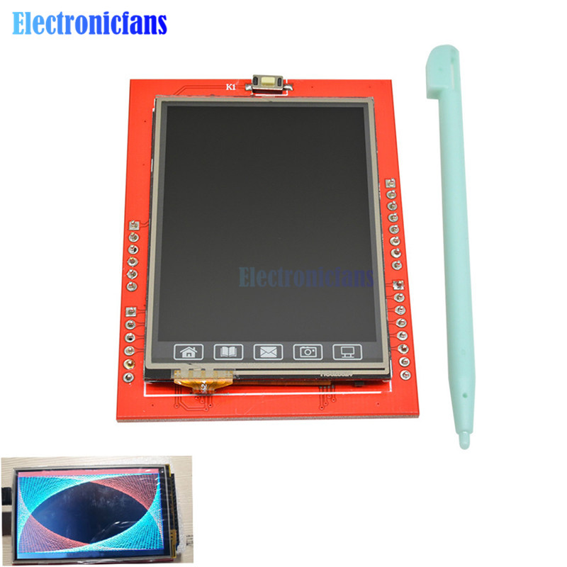 2.4 Inch TFT LCD Touch Screen Shield For Arduino UNO R3 Mega2560 LCD Module 18-bit 262,000 Different Shades Display Board Module