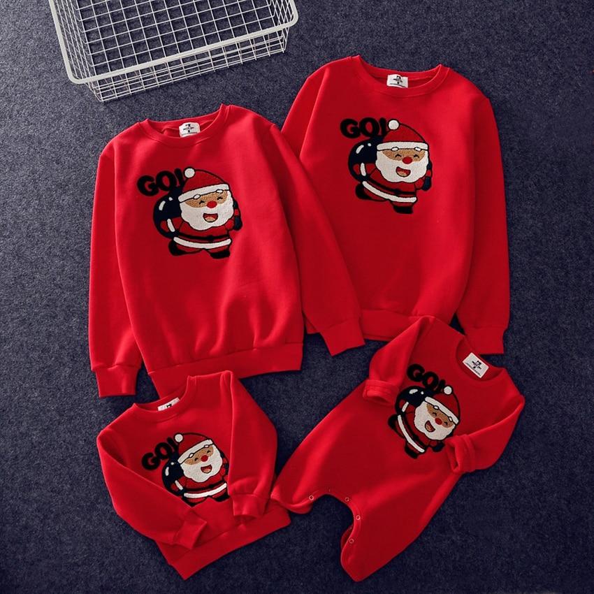Новинка года; Рождественские свитера для всей семьи; 19 цветов; рождественские худи; пижамы; теплый свитер с вышивкой Санта-Клауса и лося; подарок для взрослых и детей - Цвет: Color9