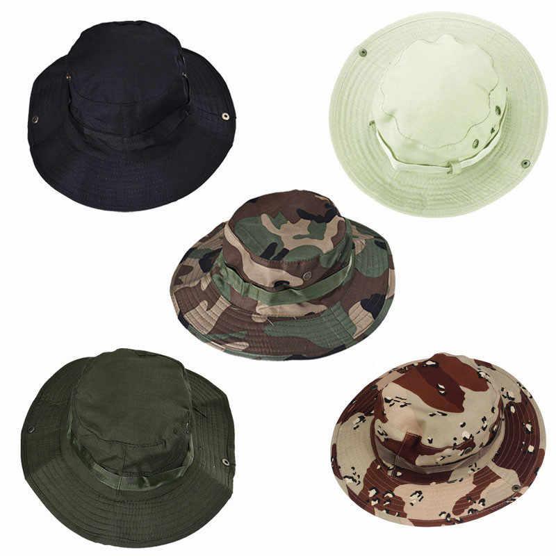 2019 ปานามาหมวกดวงอาทิตย์ Breathable หมวกเนปาล camouflage ตกปลากลางแจ้งหมวกปีกกว้างหมวกการล่าสัตว์ตกปลาหมวกกลางแจ้ง