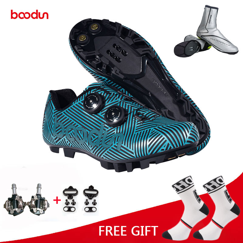 BOODUN Mountain Road Bike Cycling Racing Bicycle Non-Skid SPD Self-locking Shoes