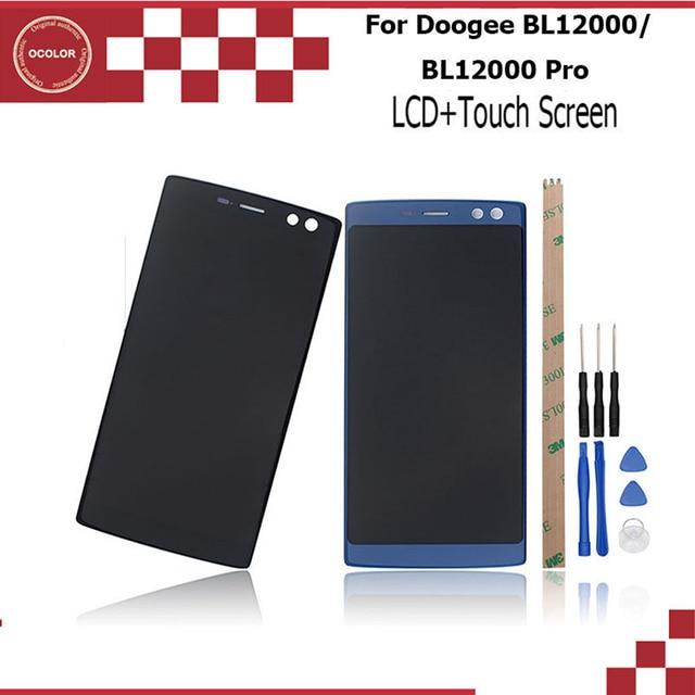 OcolorสำหรับDoogee BL12000 BL12000 ProจอแสดงผลLCD + หน้าจอสัมผัสอุปกรณ์เสริมสำหรับDoogee BL12000 BL12000 Proเครื่องมือ + กาว