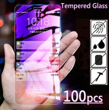 100個超薄型強化ガラス12ミニ11プロxs最大xr 8 7 6sプラススクリーンプロテクターガラスフィルムパッケージなし