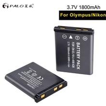 Batterie li-ion pour appareil photo EL10 40B 2018 V 3.7 mah, 2 pièces, pour OLYMPUS U700 U710 FE230 FE340 FE290 FE360, nouveauté 1800