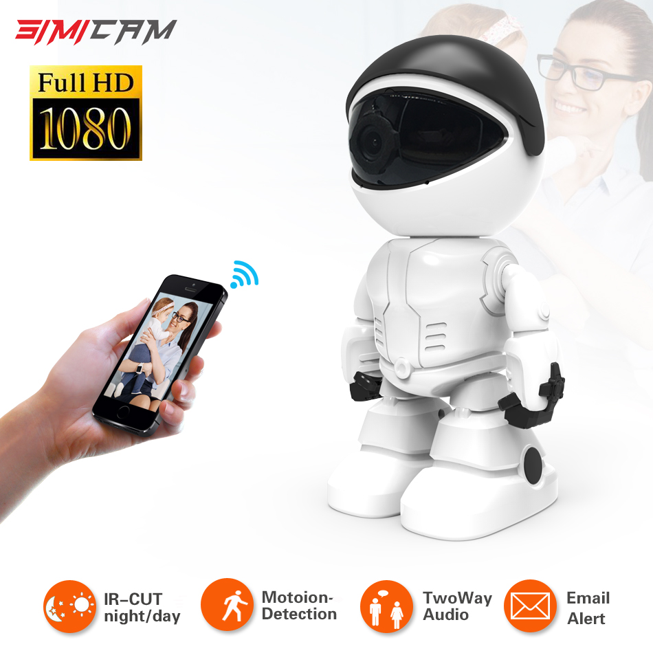 1080P Cloud Wireless IP Camera Robot Intelligent Auto Tracking Night Vision two-way audio Surveillance CCTV Network Wifi Camera