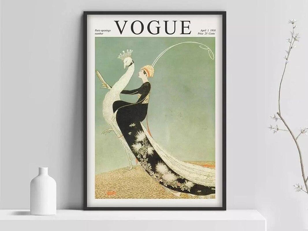 Affiche de couverture vintage, affiche, couverture de magazines, affiche de mode, mode, Art Nouveau, Art déco pos