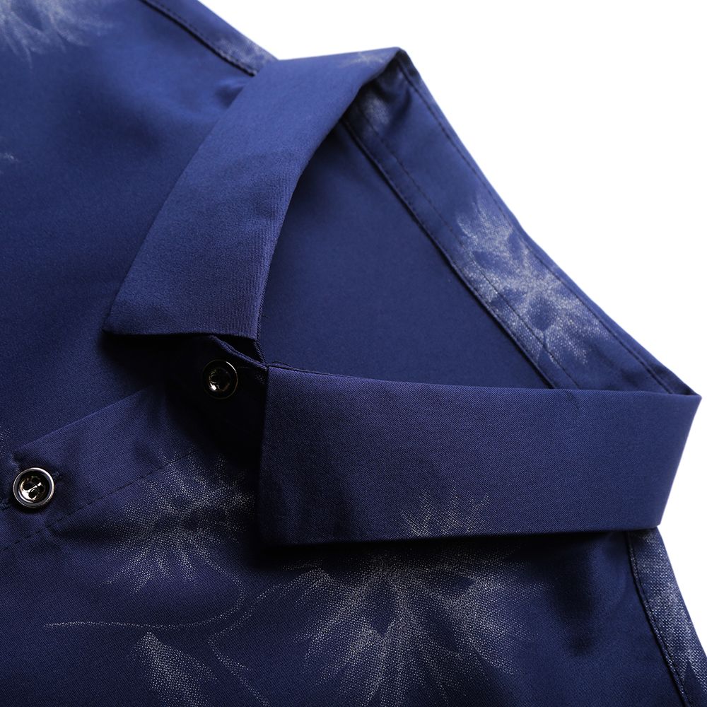 2020 Brand Long Sleeve Men Social Shirt Streetwear Casual Dandelion Shirts Dress Mens Slim Regular Fit Clothes Fashions 80503 6