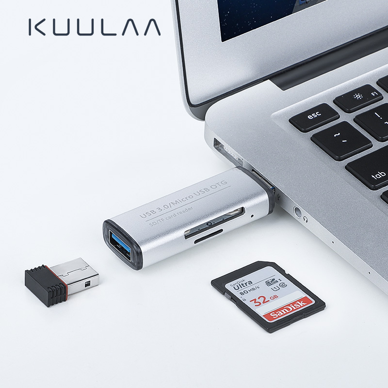 KUULAA All In One Memory Card Reader MINI USB 3.0 OTG Micro SD/SDXC TF Card Reader Adapter For PC Laptop Computer