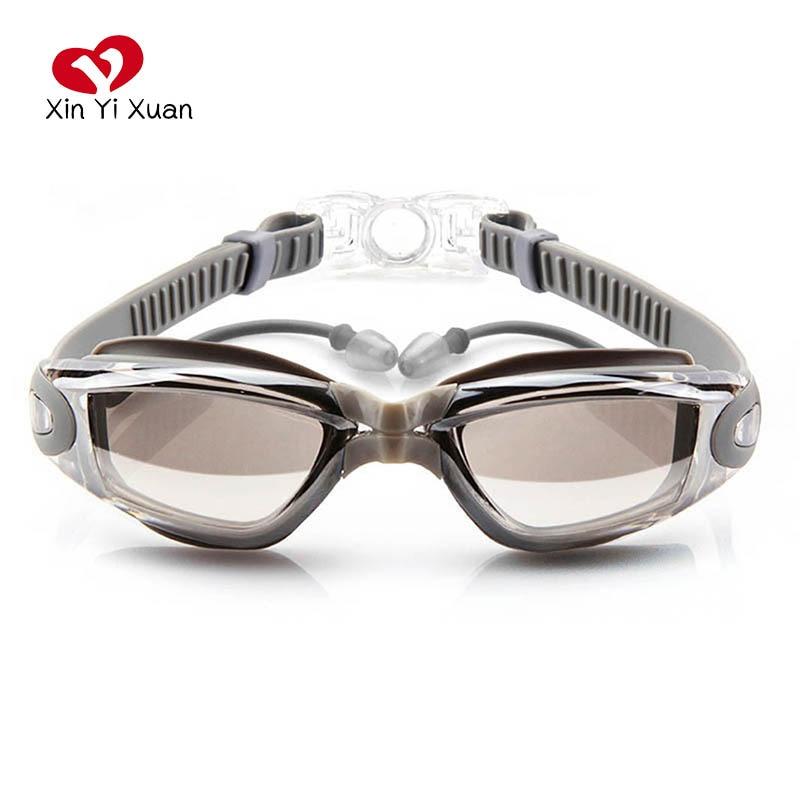 Swimming Goggles Glasses Anti Fog Arena Optical Diopter UV Protection Men Women Swim Goggle Waterproof Prescription With Earplug