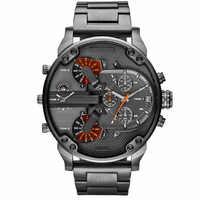 Top Brand Luxury Big Dial Men Watch Military Quartz Watch Casual Sports Business Metal Wristwatch Male Clock Relogio Masculino