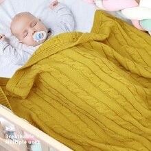 Детские одеяла для новорожденных мальчиков и девочек, вязаные детские пеленки lemonkids, одеяло для коляска для малыша, одеяло для новорожденных