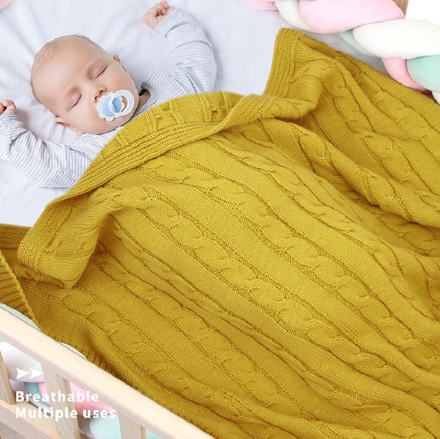 Newborns Boys Girls Baby Blankets Knitted Infant SwaddleMonthly Kids Quilt Stuff For Toddler Stroller Cobertor Infantil Wrap
